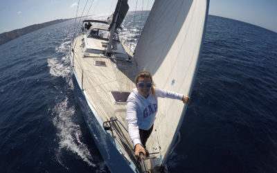 Follow the Costa Brava Stage Run from a sailing boat